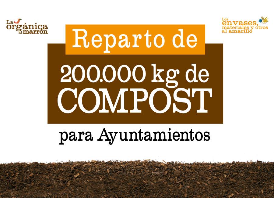 Reparto de 200.000 kg. de composto para Ayuntamientos