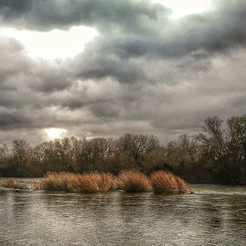 Nublado sobre el Ebro