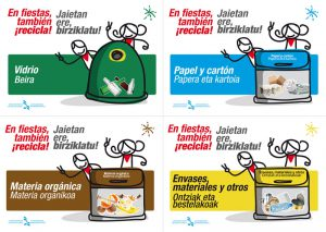 Carteles informativos para contenedores. Mancomunidad de Montejurra